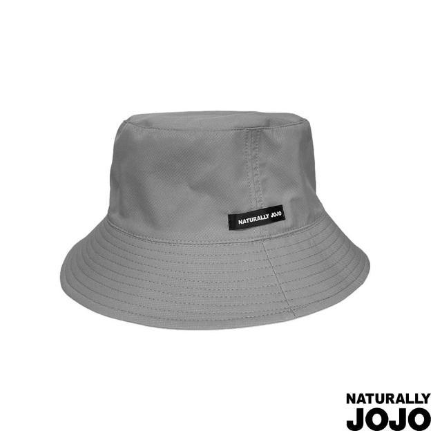 【NATURALLY JOJO】雙面戴菱格紋漁夫帽(淺灰)