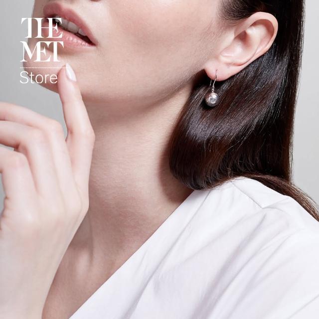 【Fubon Art 富邦藝術】拜占庭 銀色球型耳環(The Met Store/時尚/珠寶/首飾)
