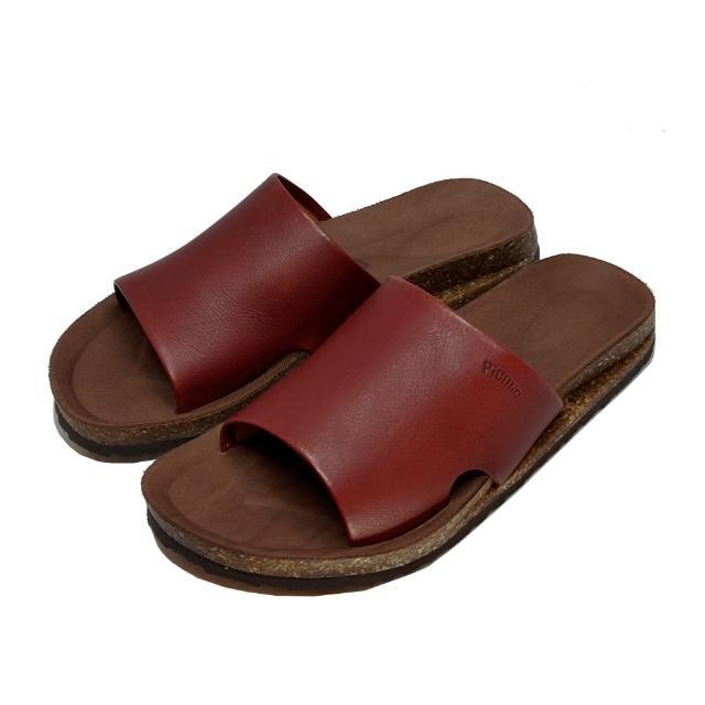【皮克米】包覆腳背 足弓墊厚底拖鞋(真皮)