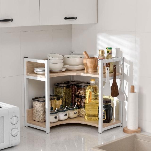 【慢慢家居】廚房多功能轉角置物架