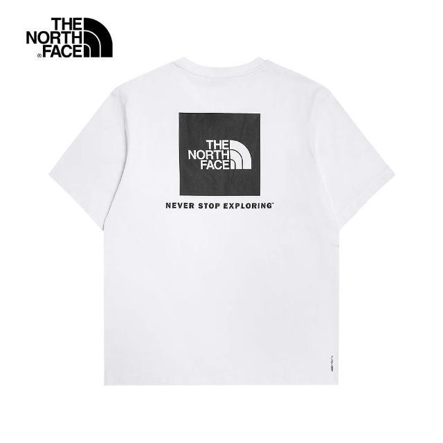 【The North Face】The North Face北面UE男款白色吸濕排汗休閒圓領短袖T恤|5AX7FN4
