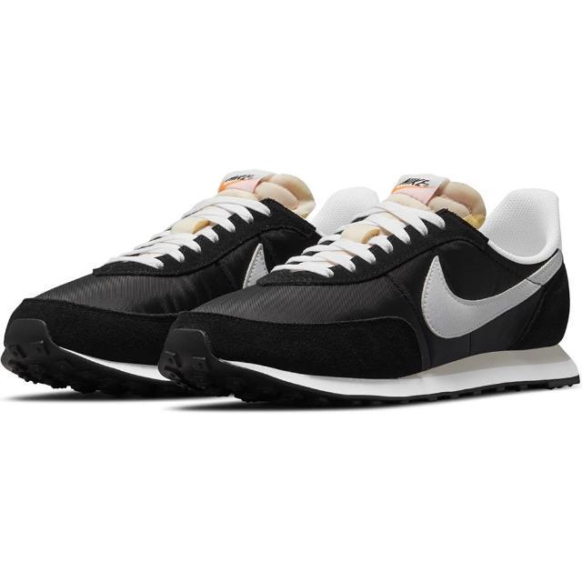 【NIKE 耐吉】休閒鞋 男鞋 運動鞋 復古 WAFFLE TRAINER 2 黑 DH1349-001