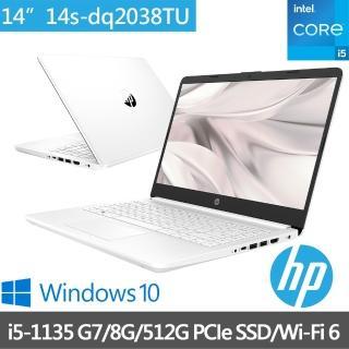 【HP送1TB行動硬碟組】超品14 14s-dq2038TU 14吋輕薄筆電-極地白(i5-1135 G7/8G/512G PCle SSD/Win10)