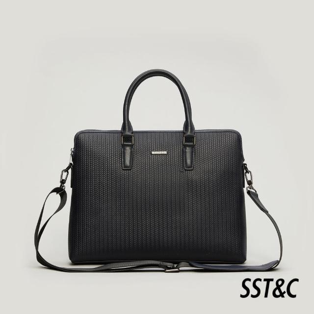【SST&C】藍色壓紋公事包1512105002