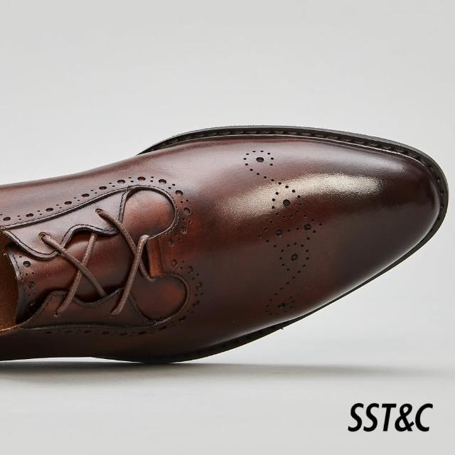 【SST&C】深咖啡色簡約雕花牛津鞋1312105003