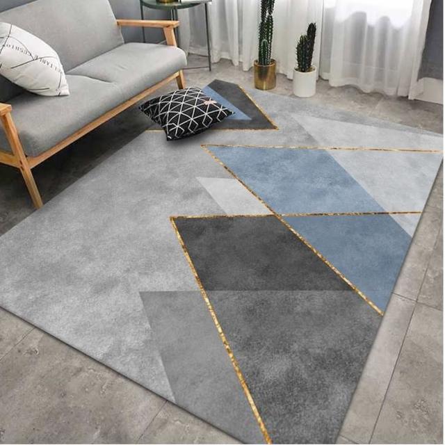 現代藝術水晶絨印花地毯 NO.65(140*200CM)