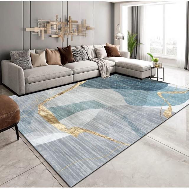 現代藝術水晶絨印花地毯 NO.61(140*200CM)