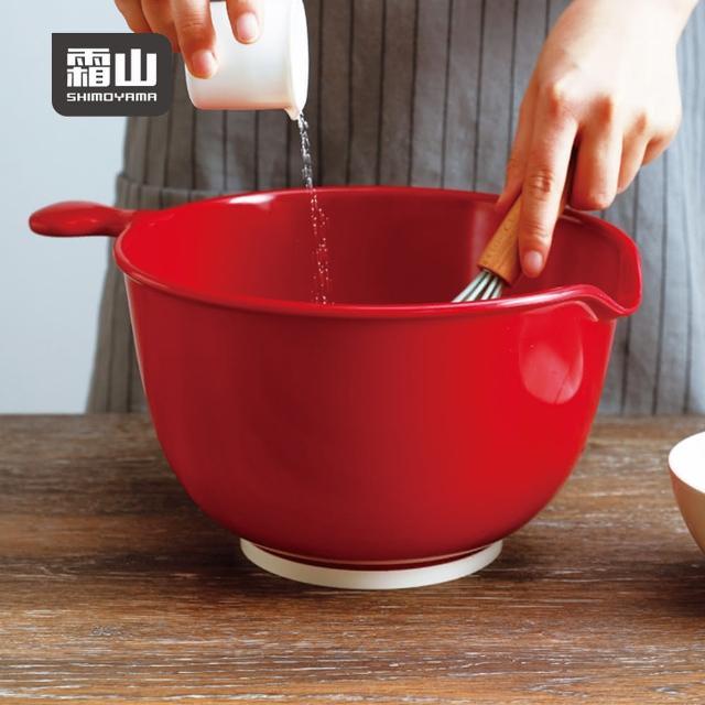 【SHIMOYAMA 日本霜山】仿瓷深型料理止滑攪拌盆-3.8L(打蛋盆 調理盆 攪拌盆 沙拉盆)