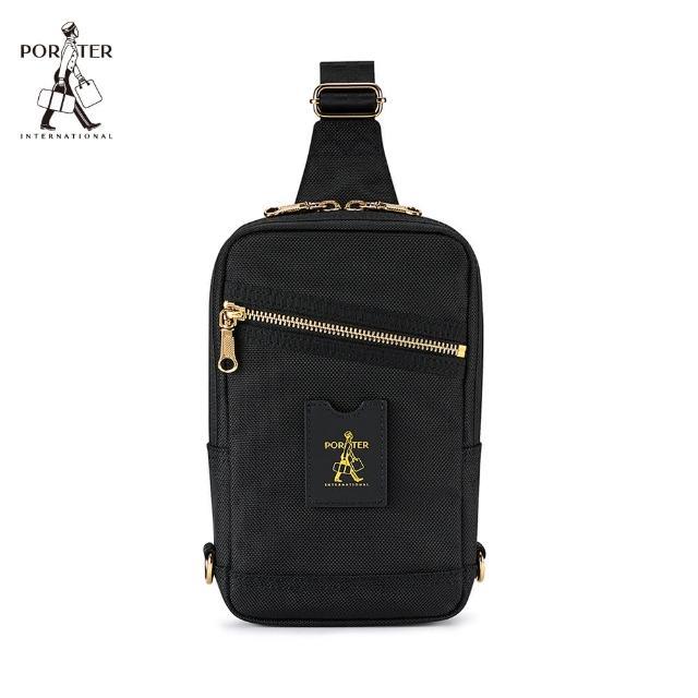 【PORTER INTERNATIONAL】LUXY簡約時尚單肩包(黑)