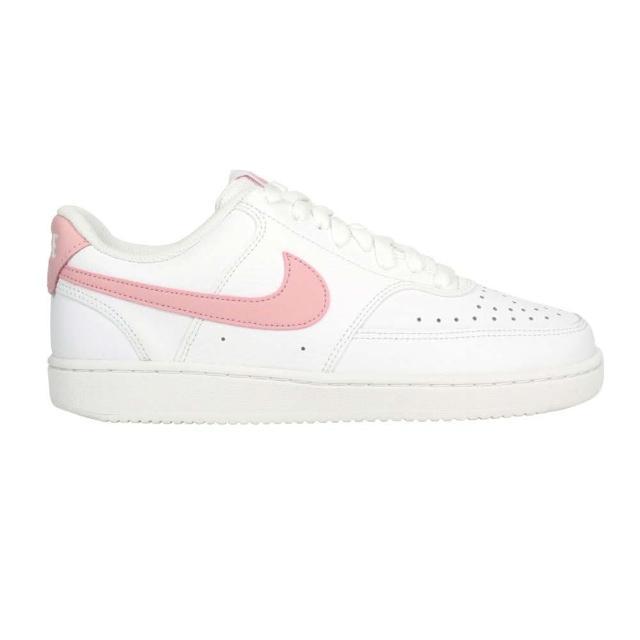 【NIKE 耐吉】WMNS COURT VISION LOW 女休閒運動鞋-經典 復古 白粉紅(CD5434110)