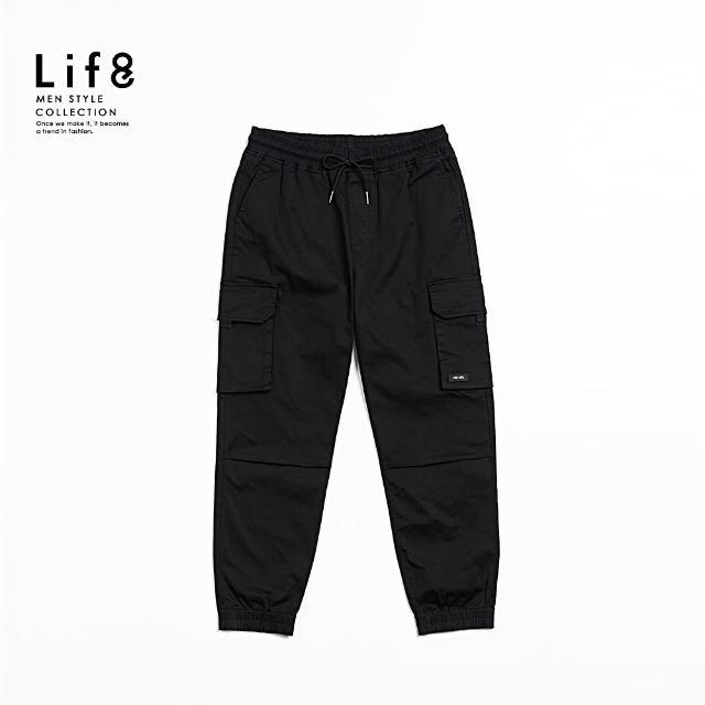 【Life8】Casual 立體雙口袋 戰術縮口長褲(02608)
