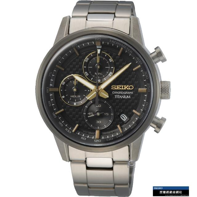 【SEIKO 精工】極速碳纖維紋計時腕錶(SSB391P1/8T67-00N0D)