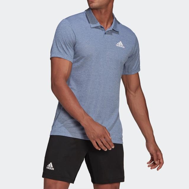 【adidas 愛迪達】Adidas H.rdy Polo 男 Polo 短袖 運動 休閒 網球 禦熱 舒適 藍(GQ3730)