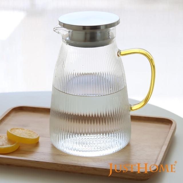 【Just Home】Just Home清透感線條耐熱玻璃壺1500ml(玻璃壺、耐熱玻璃)