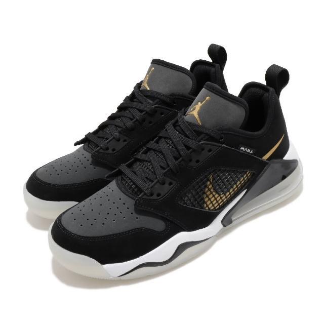 【NIKE 耐吉】籃球鞋 Jordan Mars 270 運動 男鞋 氣墊 避震 喬丹 舒適 運動 包覆 球鞋 黑 金(CK1196-017)