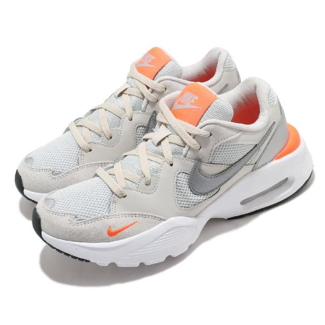 【NIKE 耐吉】休閒鞋 Air Max Fusion 運動 男鞋 氣墊 舒適 避震 輕量 反光 球鞋 米白 銀(CJ1670-008)