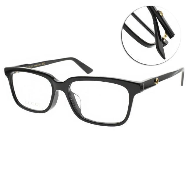 【GUCCI 古馳】光學眼鏡 造型方框款(黑#GG0557OJ 001)