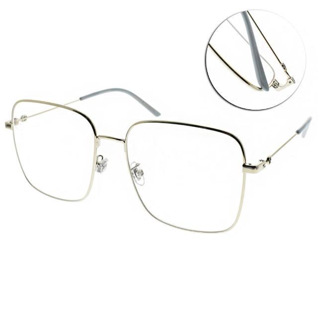 【GUCCI 古馳】光學眼鏡 金屬方框款(銀-水藍#GG0445O 002)