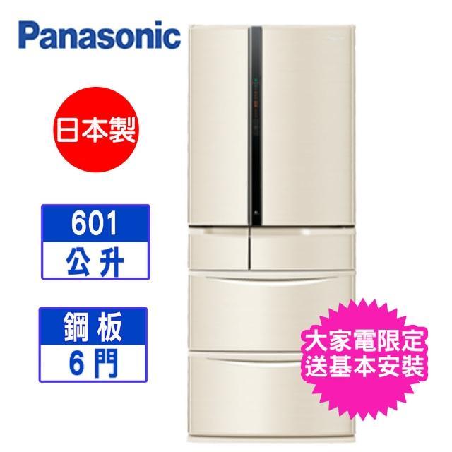 【Panasonic 國際牌】日本製 601L 六門變頻冰箱-翡翠金(NR-F607VT-N1)