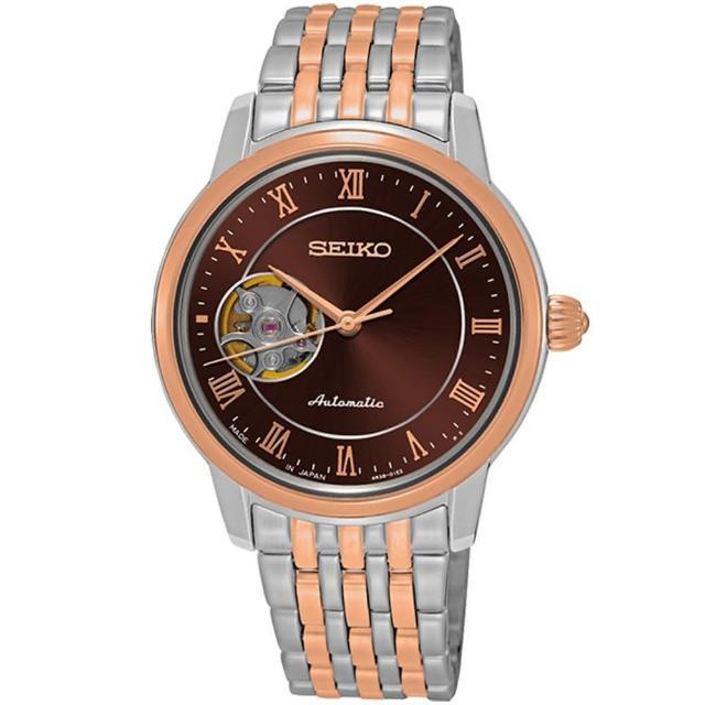 【SEIKO 精工】PRESAGE 都會羅馬時尚機械錶-34mm(4R38-01A0P/SSA852J1)