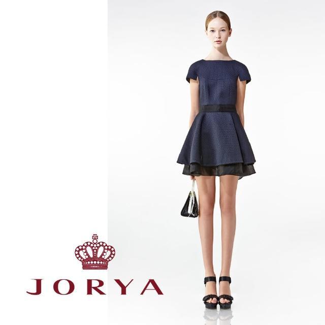 【JORYA】weekendH2001605桑蠶絲編織紋路短袖造型連身洋裝