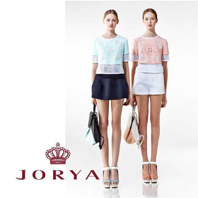 【JORYA】weekendH2001601編織紋路腰帶設計質感短褲