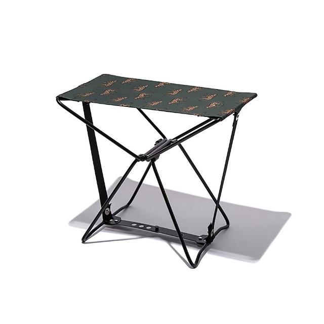 【KIU】日本KIU 隨身風格折疊凳 附收納袋(228175 草原花豹)
