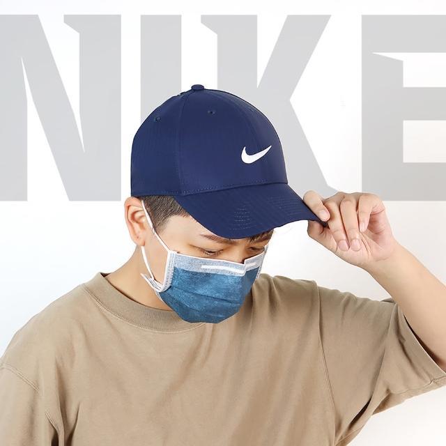 【NIKE 耐吉】遮陽帽 Legacy 91 Tech Cap 男女款 高爾夫球帽 排汗 帽圍可調 基本款 藍 白(BV1076-419)