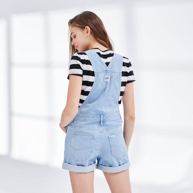【Lee】胸前大口袋 女牛仔吊帶短褲