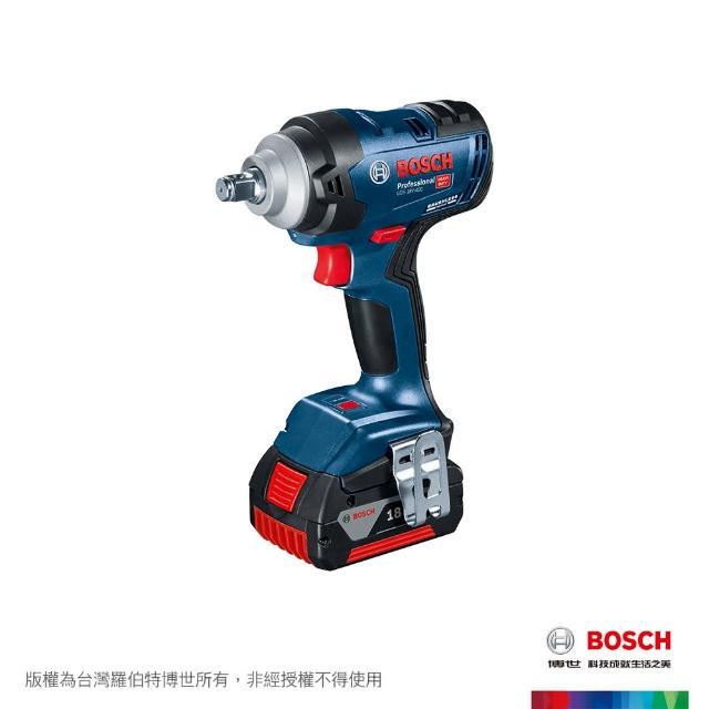 【BOSCH 博世】免碳刷衝擊扳手機雙電套裝(GDS 18V-400)
