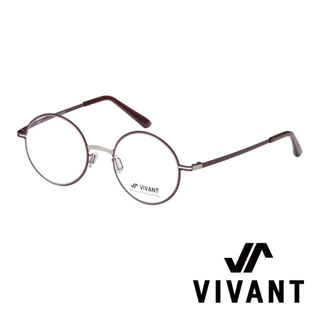 【VIVANT】韓國 正圓框 文青系列 光學眼鏡(.個性酒紅 primier-II C3)
