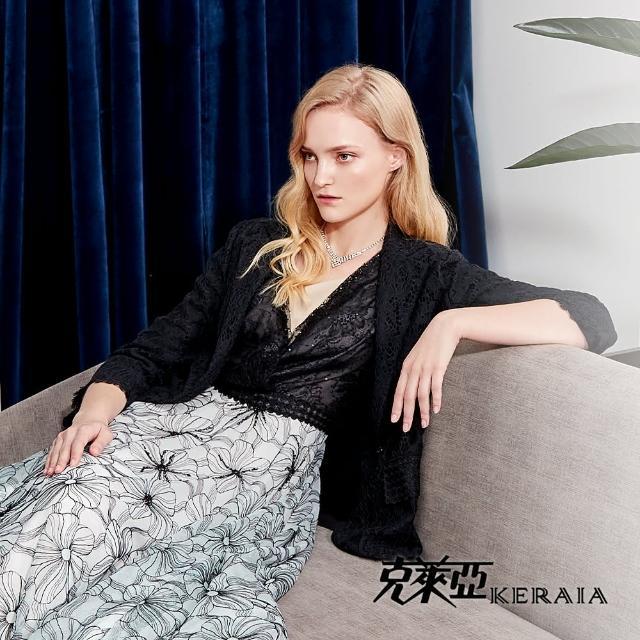 【KERAIA 克萊亞】與蕾絲共舞細緻感西裝外套