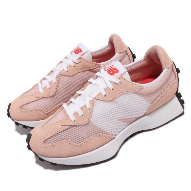 【NEW BALANCE】休閒鞋 327 復古 N字鞋 女鞋 紐巴倫 麂皮 穿搭推薦 網紅款 粉 白(WS327HC-B)
