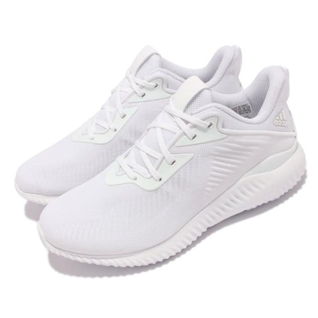 【adidas 愛迪達】慢跑鞋 Alphabounce EK 運動 男女鞋 愛迪達 輕量 透氣 Bounce避震 情侶款 白(GY5401)