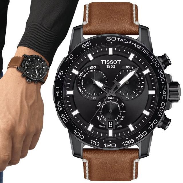 【TISSOT 天梭】SUPERSPORT CHRONO 三眼計時腕錶 / 45.5mm(T1256173605101)