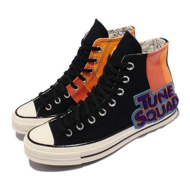 【CONVERSE】休閒鞋 All Star 聯名 運動 男女鞋 怪物奇兵 帆布皮革拼接 情侶款 黑 彩(172482C)