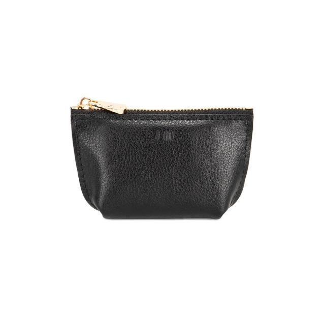 【J II】零錢包-輕巧牛皮零錢包-黑色-3101-1(零錢包)