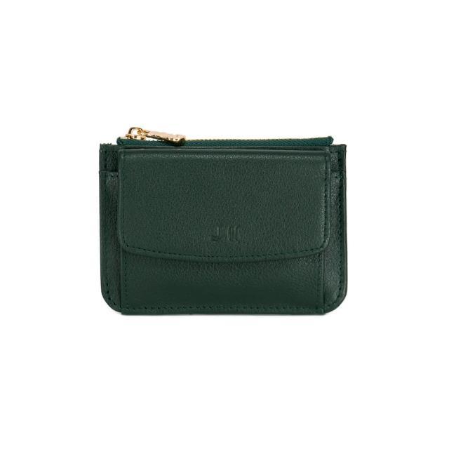 【J II】零錢包-口袋牛皮卡片零錢包-知性綠-3102-7(零錢包)