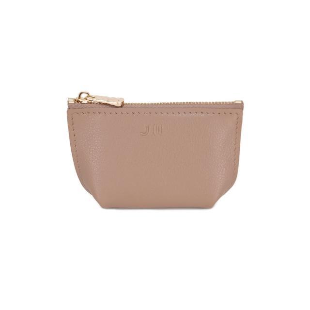 【J II】零錢包-輕巧牛皮零錢包-藕膚色-3101-15(零錢包)