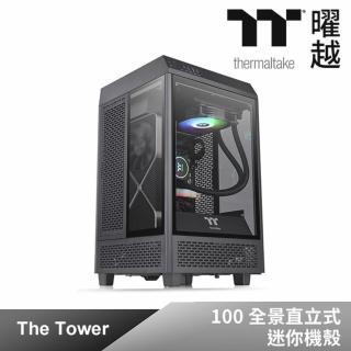 【延長線組】Thermaltake 曜越 透視 The Tower 100 全景直立式迷你機殼+1開6插安全延長線