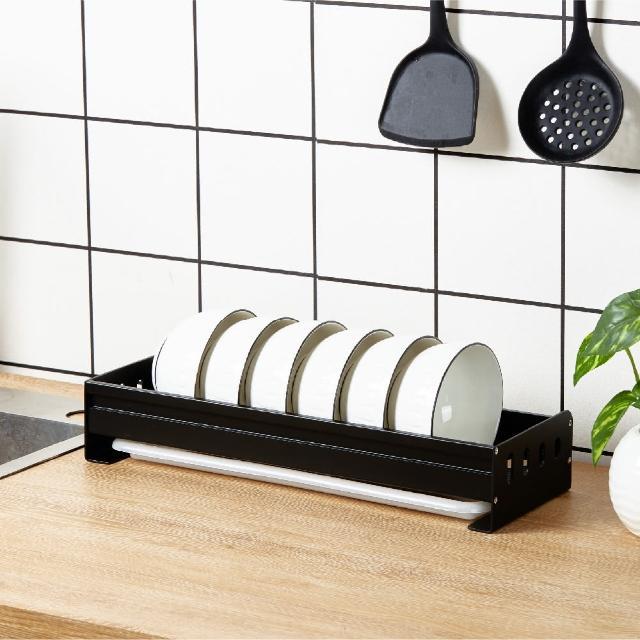 【居家收納】北歐風 單層落地碗架 鋁合金置物架 防鏽碗架(碗架)