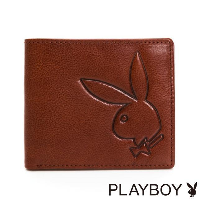 【PLAYBOY】基本短夾 Mr. Rabbit系列(咖色)