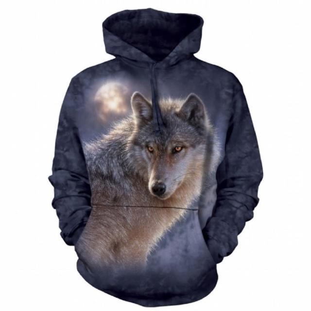 【摩達客】美國進口The Mountain 冒險狼 套頭長袖連帽T恤(現貨)