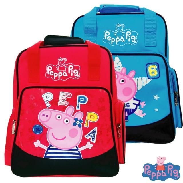 【Peppa Pig 粉紅豬】Peppa Pig 粉紅豬/佩佩豬佩佩豬-兩用護脊成長型書包