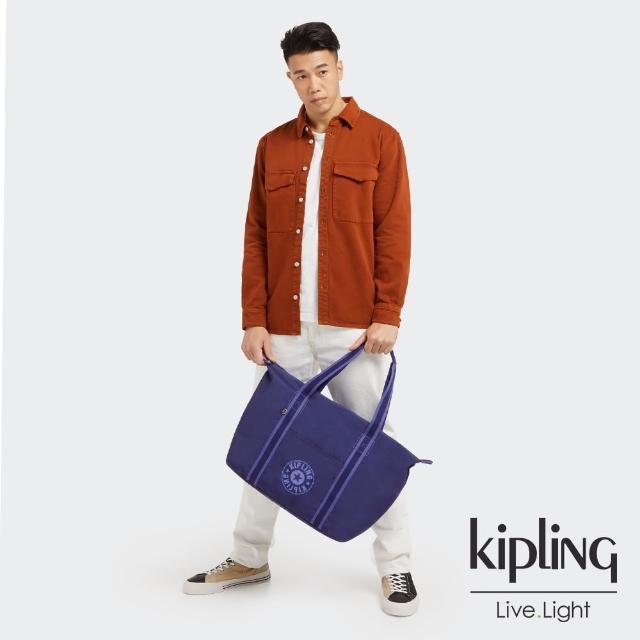 【KIPLING】知性星辰藍簡約手提肩背托特包-ART M LITE