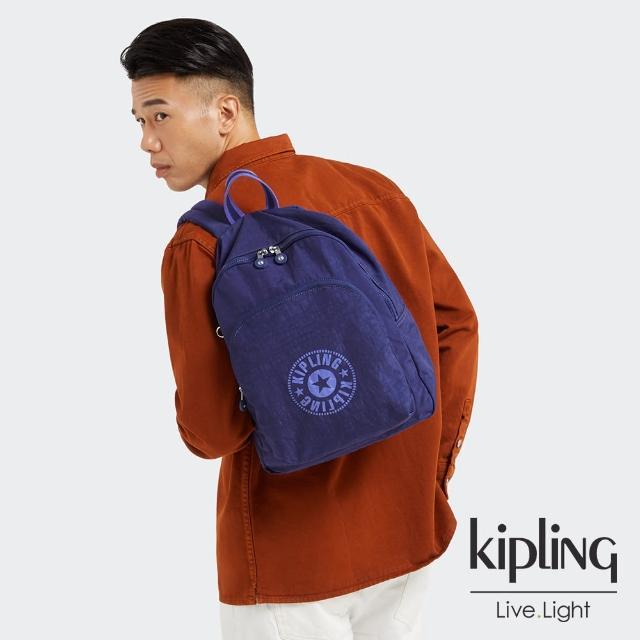 【KIPLING】知性星辰藍簡約手提後背包-CURTIS M