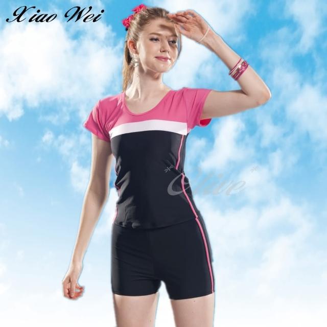【小薇的店】泳之美品牌流行大女二件式短袖泳裝(NO.282358-4L)
