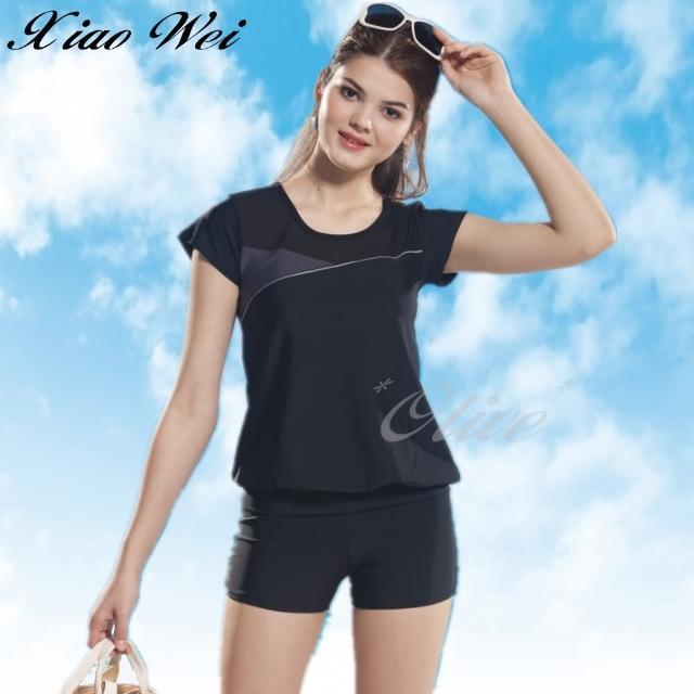 【小薇的店】泳之美時尚二件式短袖泳裝(NO.282068-3L)