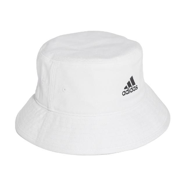 【adidas 愛迪達】漁夫帽 Cotton Bucket 男女款 愛迪達 夏日 遮陽 基本款 素色小LOGO 白黑(H36811)