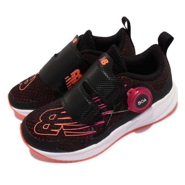 【NEW BALANCE】休閒鞋 FuelCore BOA W 寬楦 童鞋 紐巴倫 BOA旋鈕 拉轉壓 耐磨 中童 黑 白(PTRVLBM3-W)
